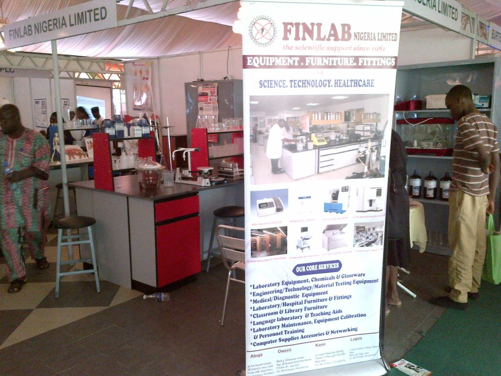 Exhibition Stand Nigeria : Finlab showcases at tosse nigeria limited